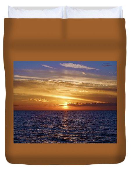 Sunset In Sw Florida Duvet Cover