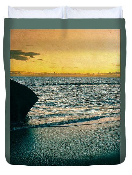 Sunset In Tenerife Duvet Cover by Loriental Photography