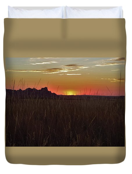 Sunset In The Badlands Duvet Cover