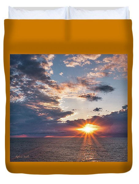 Sunset In The Clouds Duvet Cover