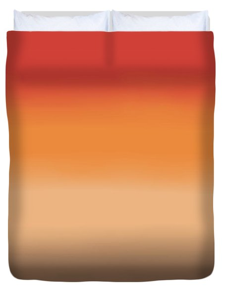 Sunset In The Desert - Sq Block Duvet Cover