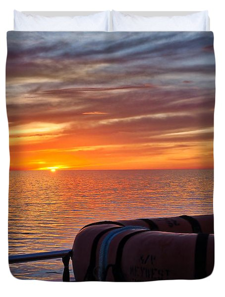 Sunset In The Gulf Duvet Cover