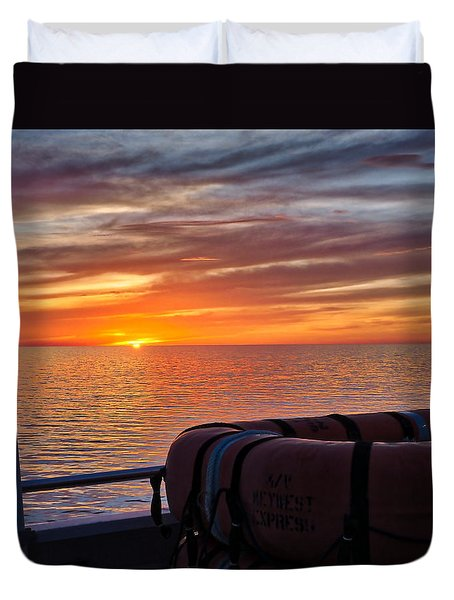 Sunset In The Gulf Duvet Cover
