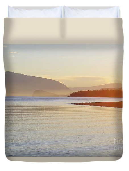 Sunset In The Mist Duvet Cover by Victor K