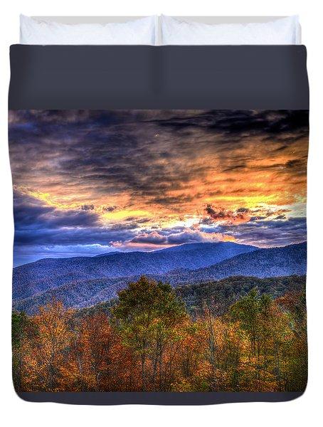 Sunset In The Smokies Duvet Cover
