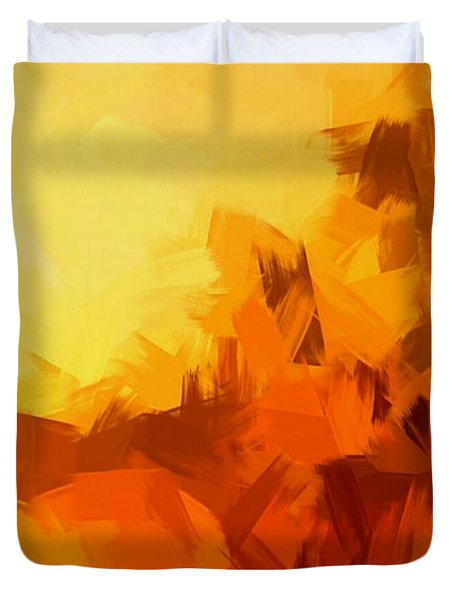 Sunset In Valhalla Duvet Cover