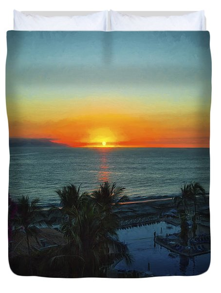 Sunset In Vallarta  ... Duvet Cover