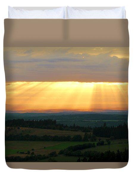 Sunset In Vogelsberg Duvet Cover