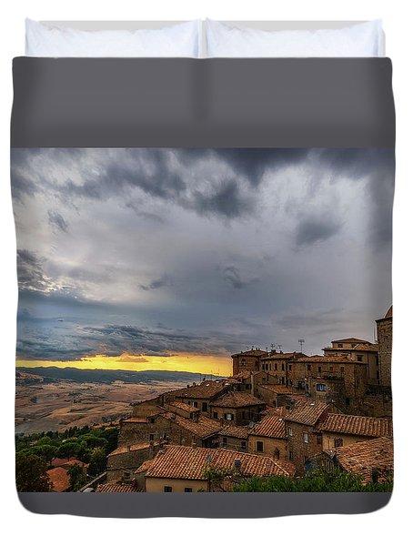 Sunset In Volterra Duvet Cover