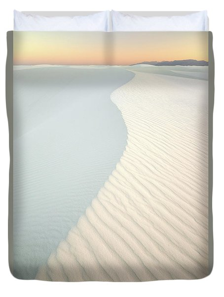 Sunset In White Sands Duvet Cover