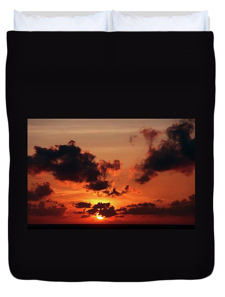 Duvet Cover featuring the photograph Sunset Inspiration by Jenny Rainbow