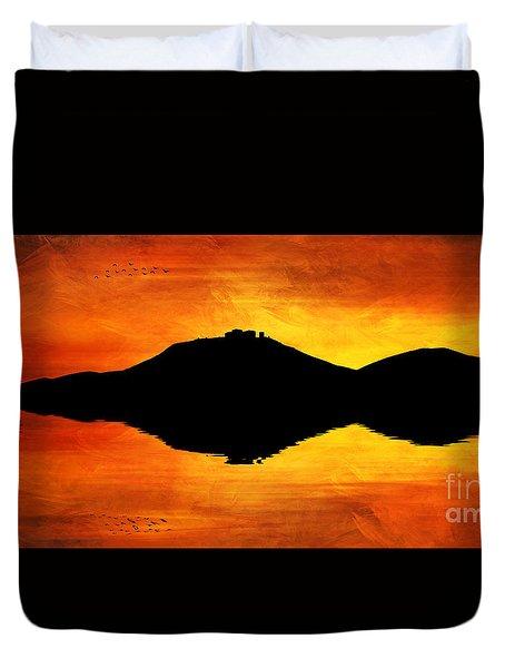 Sunset Island Duvet Cover