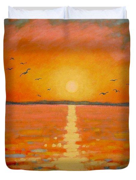 Sunset Duvet Cover by John  Nolan
