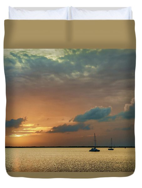 Sunset, Key Largo Duvet Cover