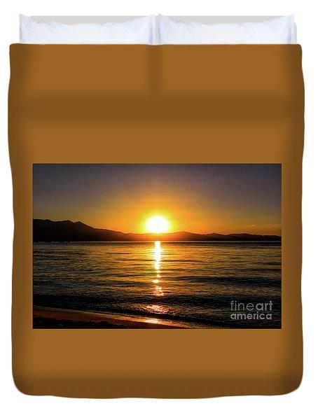 Sunset Lake 1 Duvet Cover