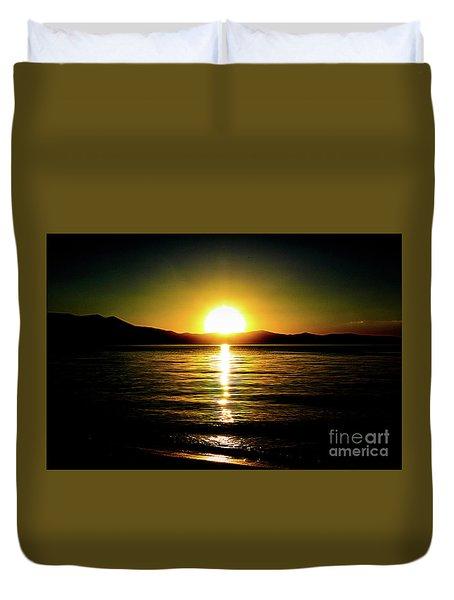 Sunset Lake 2 Duvet Cover