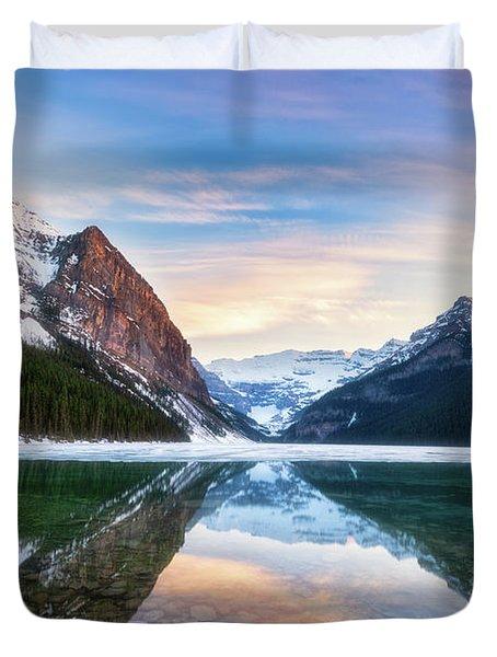 Sunset Lake Louise Duvet Cover