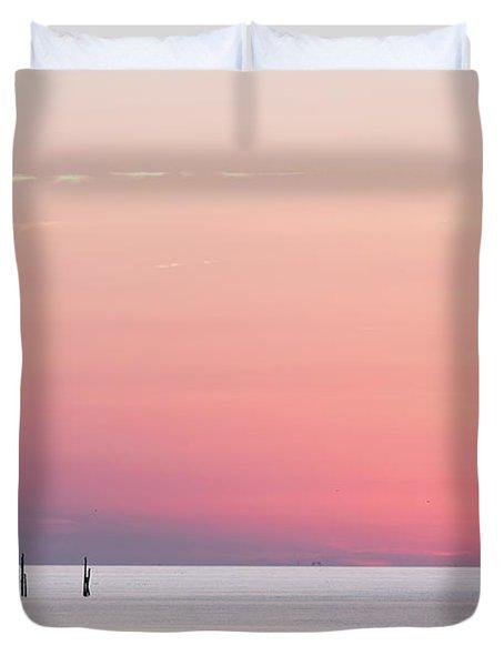 Sunset Landscape Duvet Cover