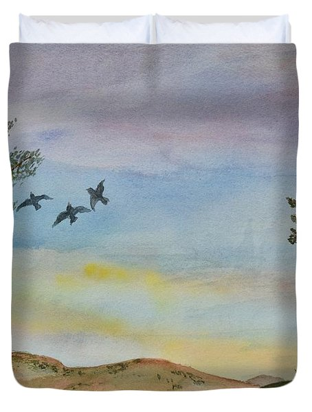 Sunset Landscape I Duvet Cover