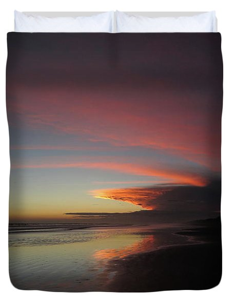 Sunset Las Lajas Duvet Cover