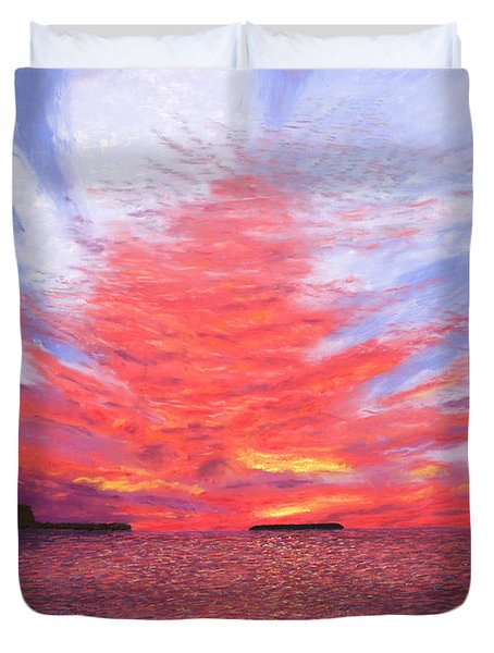Sunset Lovers Duvet Cover