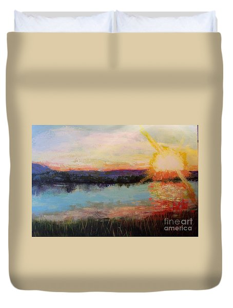 Sunset Duvet Cover by Marlene Book