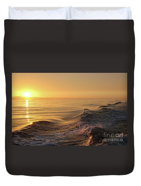 Sunset Meets Wake Duvet Cover