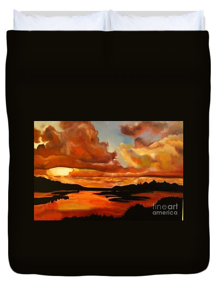 Sunset Duvet Cover by Michael Kulick