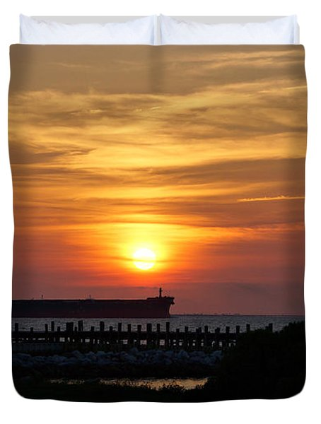 Sunset Mobile Bay Duvet Cover