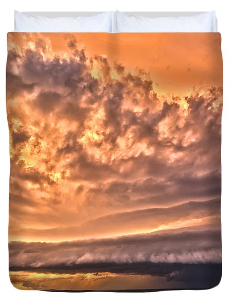 Sunset Mothership Duvet Cover