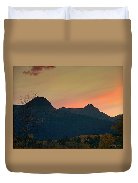 Sunset Mountain Silhouette Duvet Cover