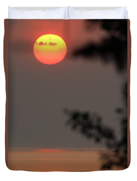 Sunset Mt Sinai New York Duvet Cover
