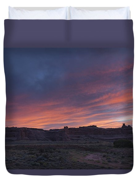 Sunset Near Court House Wash Duvet Cover