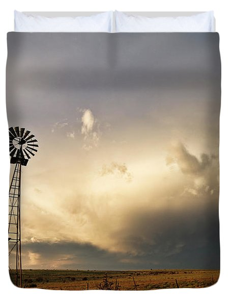 Sunset Near Santa Rosa New Mexico Duvet Cover