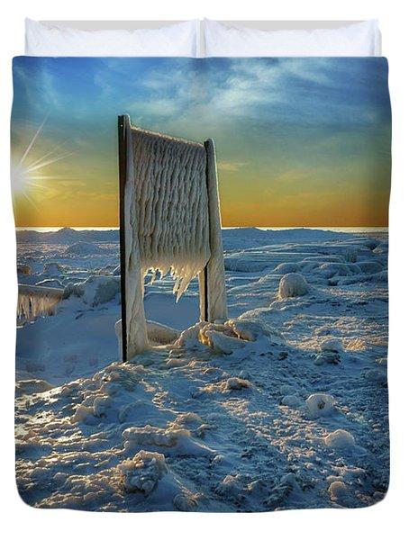 Sunset Of Frozen Dreams Duvet Cover