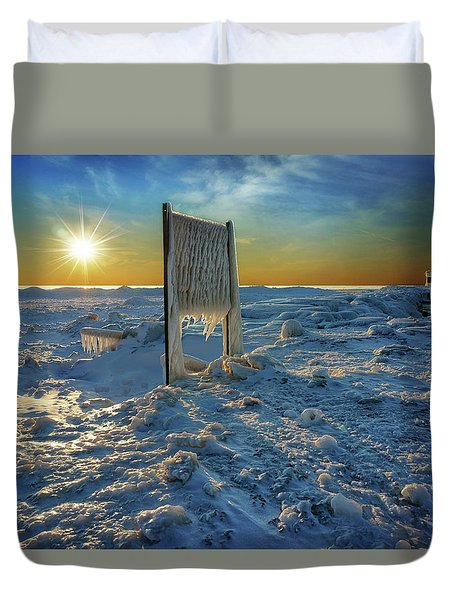 Sunset Of Frozen Dreams Duvet Cover