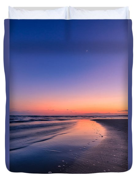 Sunset, Old Saybrook, Ct Duvet Cover