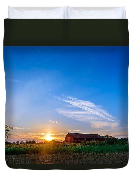 Sunset On A Maryland Farm Duvet Cover