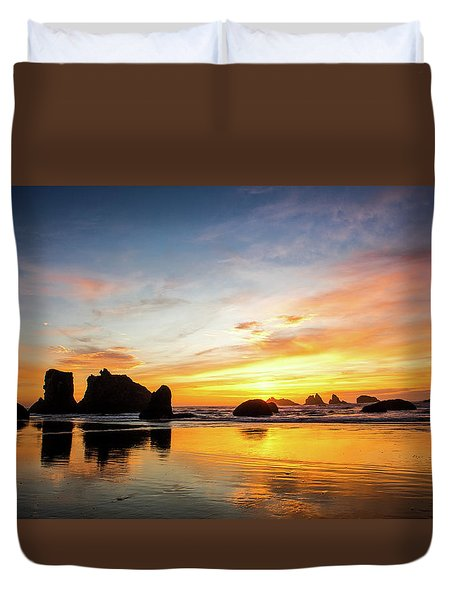Sunset On Bandon Duvet Cover