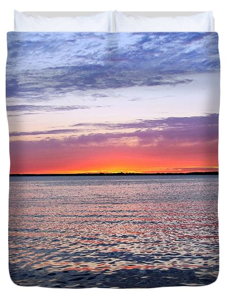 Sunset On Barnegat Bay I - Jersey Shore Duvet Cover