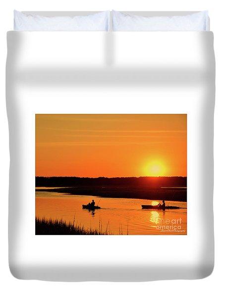 Sunset On Broad Creek Duvet Cover