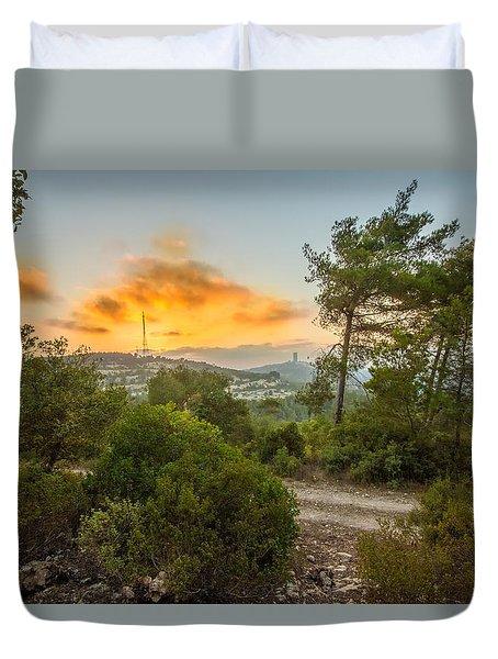 Sunset On Carmel Mountain 2 Duvet Cover