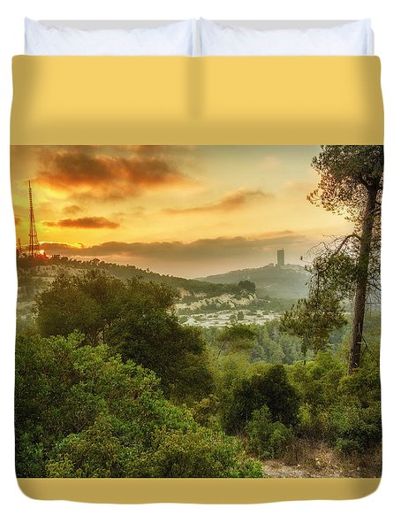 Sunset On Carmel Mountain Duvet Cover