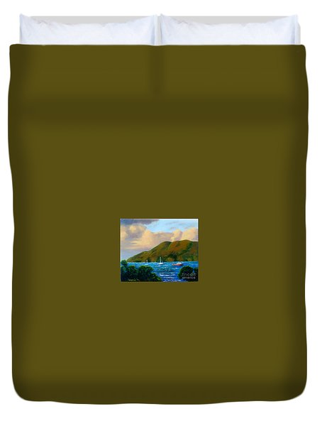 Sunset On Cruz Bay Duvet Cover