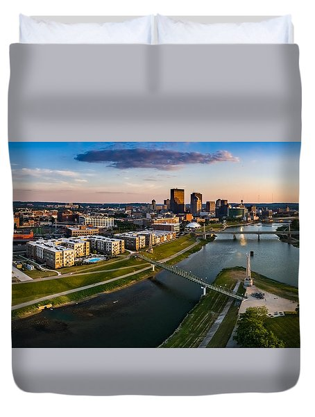 Sunset On Dayton Duvet Cover