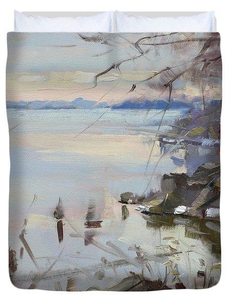Sunset On Fishermans Park - North Tonawanda Duvet Cover