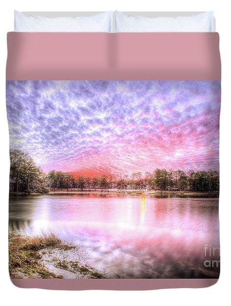 Sunset On Flint Creek Duvet Cover by Maddalena McDonald