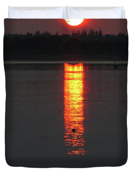 Sunset On Friendship Duvet Cover