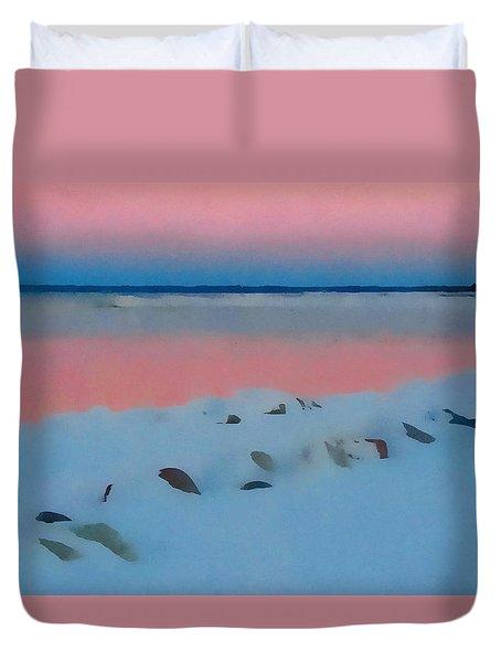 Sunset On Georgian Bay Duvet Cover