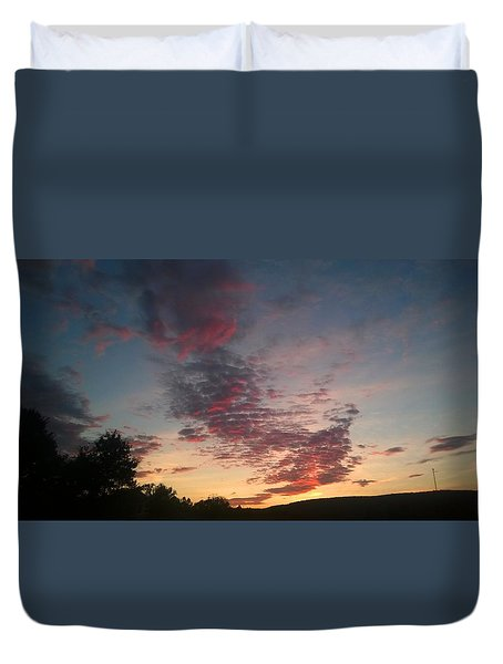 Duvet Cover featuring the photograph Sunset On Hunton Lane #11 by Carlee Ojeda